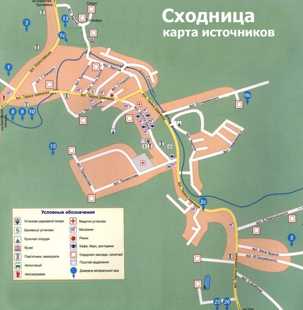 сходница карта источников